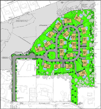 Site Layout of Woodland Heights in Montvale, NJ by Bear-Ban Builders, LLC